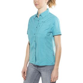 Meru Melissia Functionele Blouse Korte Mouwen Dames, turquoise